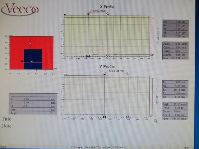Veeco/白色干渉顕微鏡/NT1100