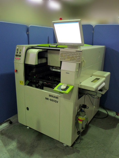 MINAMI Full automatic high speed screen printer with a visual recognition device MK-888SV